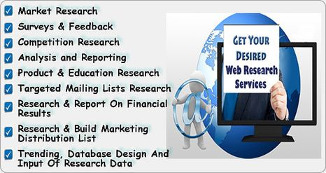 Web research service is an integral part of any business for delivering highest standard and quality result. There are different techniques of web research services such as data mining, data extraction, web scraping and data validation. It is a Comprehensive Marketing Services that increase business ROI.