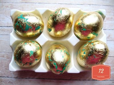 ProjectGallias:#projectgallias: DIY Easter golden eggs, Kurs jak zrobić złote wielkanocne pisanki
