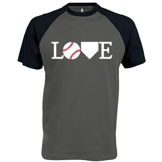 Honkbal t-shirt: Love baseball bij vanSHIRTJEtotSHIRTJE