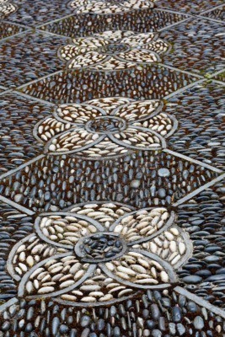 Intricate Pathway Of An Asian Stone Mosaic Patio Royalty Free Stock Photo, Pictures, Images And Stock Photography. Image 14391929.