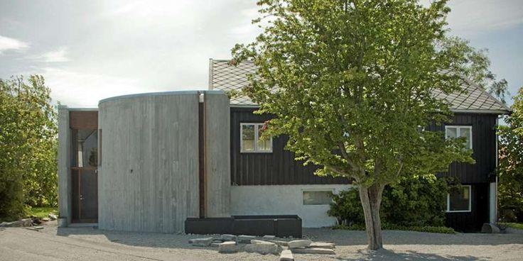 SIRKELFORM. Sivilarkitekt MNAL Ole Serinius Trodahl har tegnet tilbygg i kjerneisolert betong.