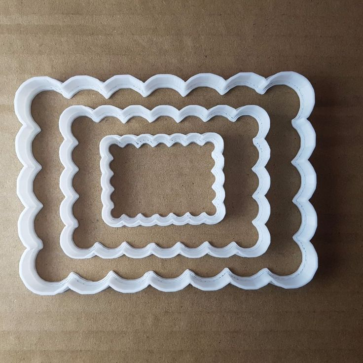 Rectangle Shape Cutter. Small: approx. 5cm x 3.7cm x 1cm deep - 0.5mm cutting edge. Medium: approx. 8.2cm x 6cm x 1cm deep -0.5mm cutting edge. Large: approx. 11.6cm x 9.5cm x 1cm deep -1mm cutting edge. | eBay!