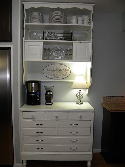 Bedroom dresser remake ~ needed more space in the kitchen so refurbished an old Ethan Allen bedroom dresser.
