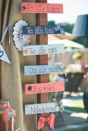 I like this saying for a gender neutral baby shower or a gender reveal party by MarylinJ