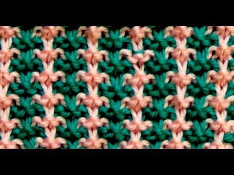 Punto (puntada) ARROZ de 2 colores (bicolor). Tejido con dos agujas # 294 - YouTube