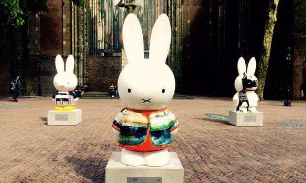 Nijntje / Miffy Art Parade, 60 years, Dick Bruna, Domplein, Utrecht, NL