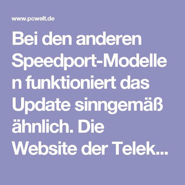Telekom Speedport Update