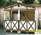 Holzverkaufshütte für Schausteller, Marktbetreiber - Raclette Hütte etc. -