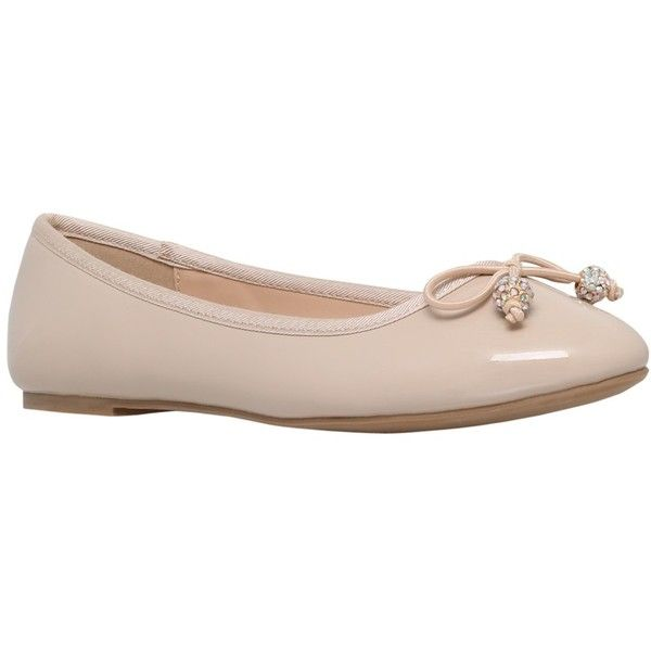 Miss KG Millie Flat Ballerina Pumps ($45) ❤ liked on Polyvore featuring shoes, flats, nude, nude flats, nude ballet pumps, ballerina pumps, ballet shoes and ballet pumps