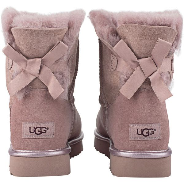 a09c7fe5390 UGG Mini Bailey Bow Metallic Dusk // Shearling boots with bow ($235 ...