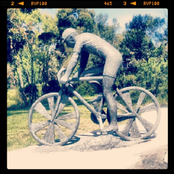 #cyclist #sculpture #bayswater #Melbourne #oz #Australia #victoria  @mikemanouevre
