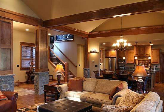 Plan jd rustic lodge house plans craftsman and
