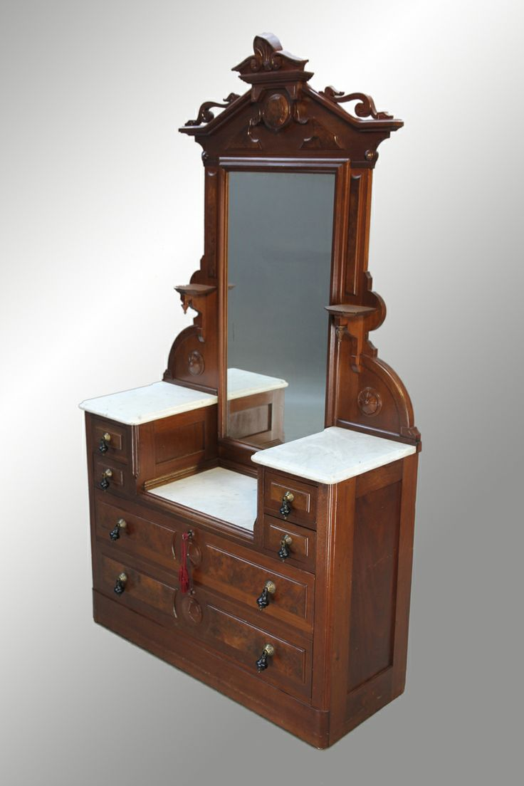 Victorian antique dressers 15936 antique victorian marble top drop center dresser maine - Marble tops for furniture ...