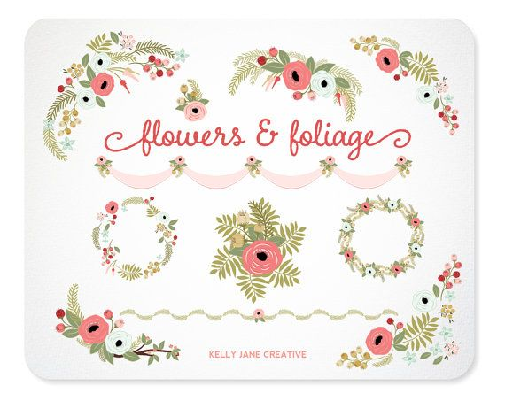 Floral Clip Art Wedding Clip Art Wedding By KellyJSorenson