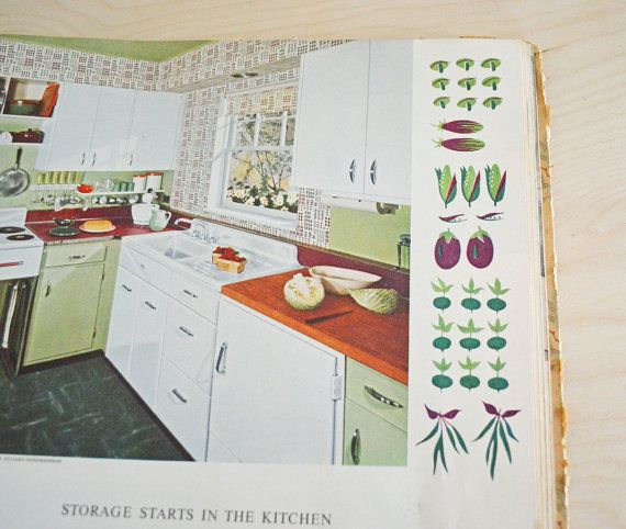 SUMMER SALE Vintage Book Of Interior Decoration 1950s By Mothrasue 800
