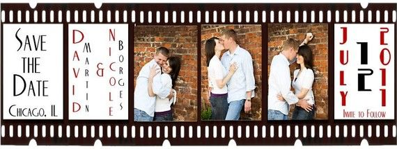 Custom 100 Film Strip save the date magnet on by platinumdesigns, $100.00