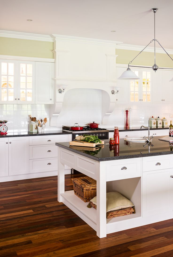 "WOW! WOW! and WOW! Not much more to say really. We have serious kitchen envy, how about you? Albedor's ""Sheree"" doors and panels in Satin White. For more information on this or any other of our kitchens visit our brand new website www.albedor.com.au"