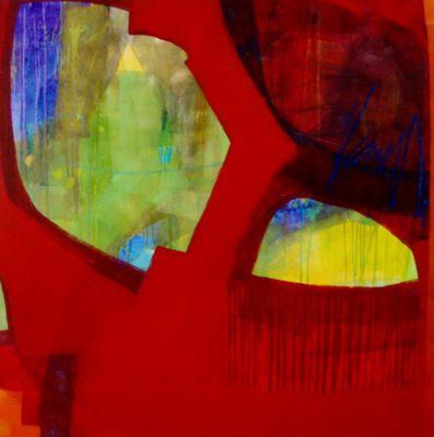 "Cheryl Petersen, ""Redomite"" 120x120cm"