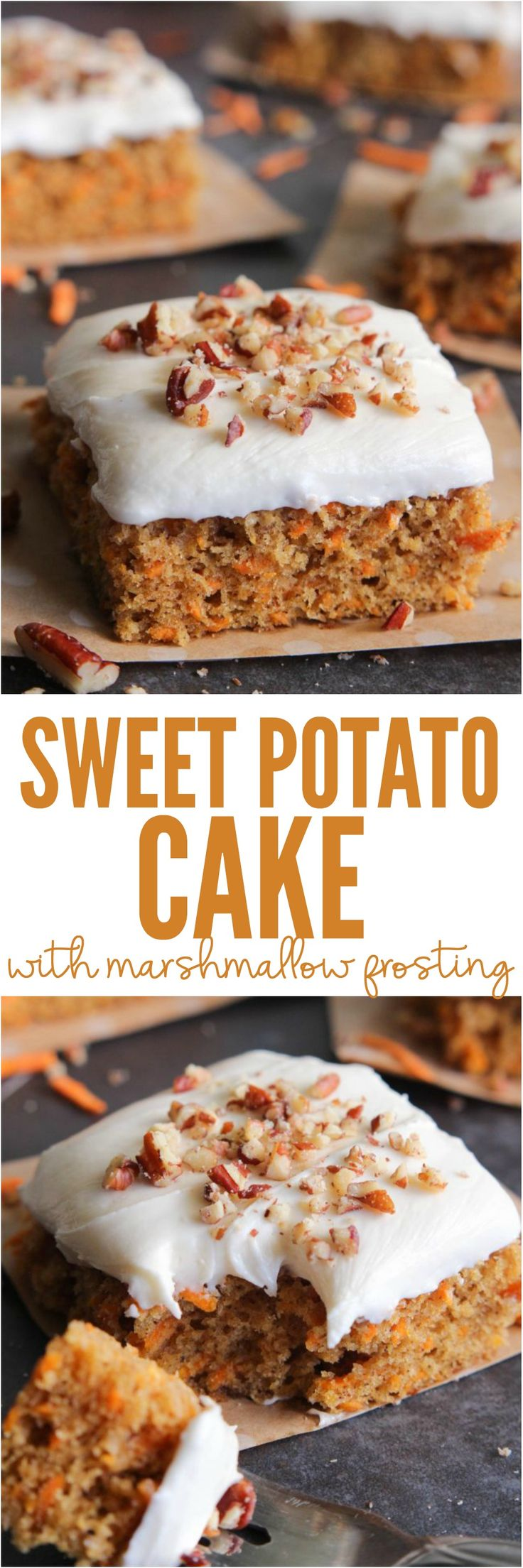Sweet Potato Cake with Marshmallow Frosting | the Recipe Critic | this is a lightly spiced cake that is perfectly moist and delicious. Topped with the most amazing thick and creamy marshmallow frosting!