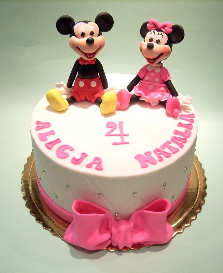 Minnie & Mickey cake  My sweet work, cakes, sugarpaste figurines ...