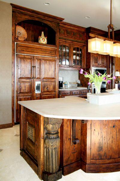 Kitchen Island Architectural Detail
