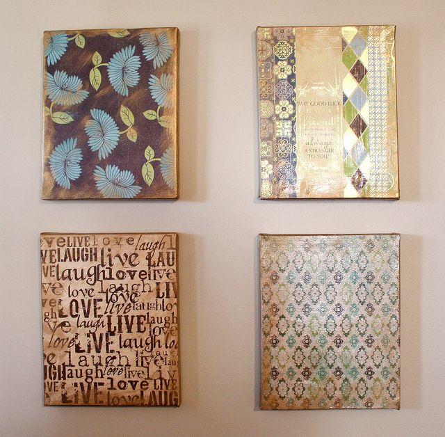 scrapbook paper art | scrapbook paper canvas collage | Flickr - Photo Sharing!