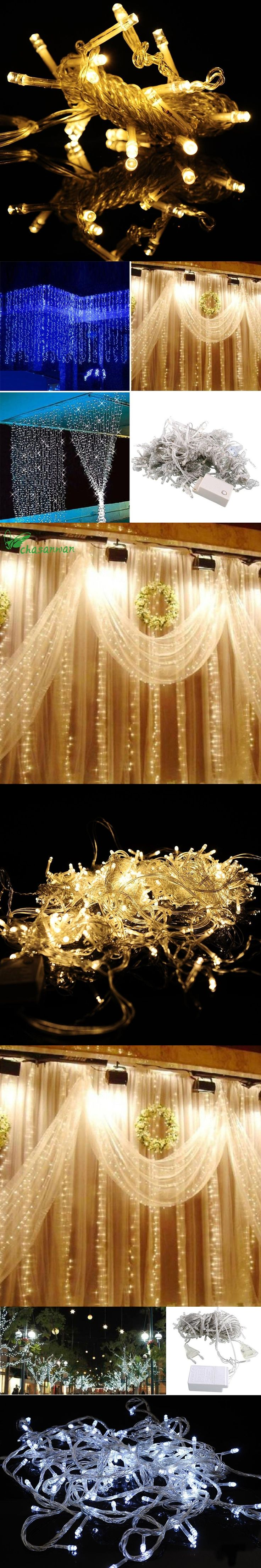 3 * Enfeites De Natal Curtain Lights Wedding Party Decoration New Year  Decoration Christmas Tree Decorations Natal,Q