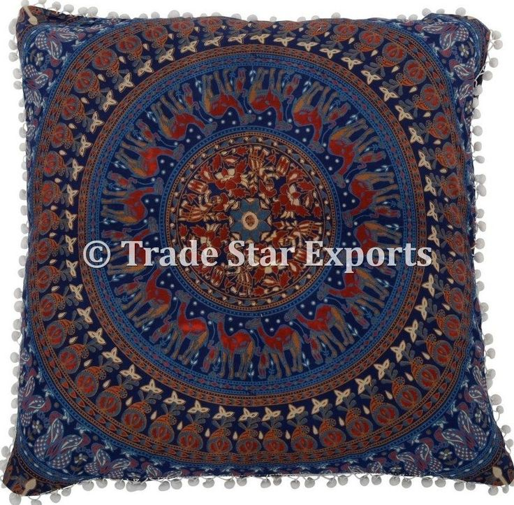 Large Indian Mandala Tapestry Euro Sham Pillow Cases Bohemian Meditation Cushion