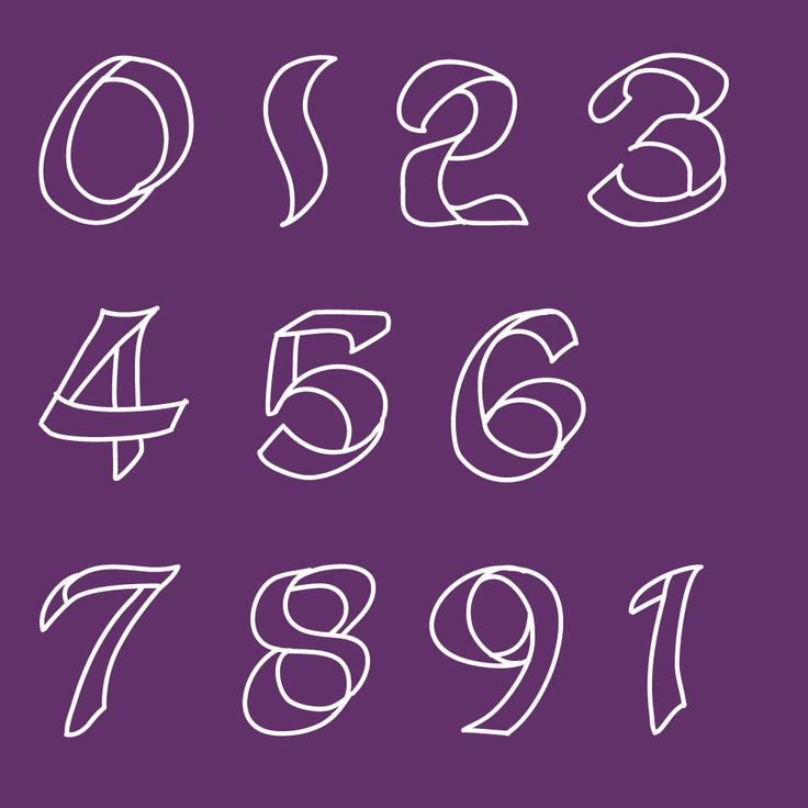 FONT Stained glass window numerals numbers typeface for computer. £7.00, via Etsy.