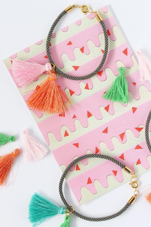 Lotts and Lots | DIY and creative living for the modern maker: DIY - silk tassel bracelet