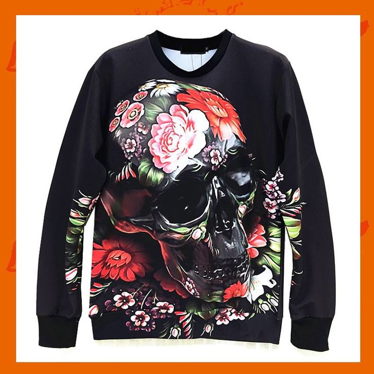Black Skull Hoodie Material: Polyester / Cotton Feature: Anti-Pilling, Anti-Shrink, Anti-Wrinkle, Breathable, Eco-Friendly, Plus Size, Quick Dry, Windproof Size: S/M/L