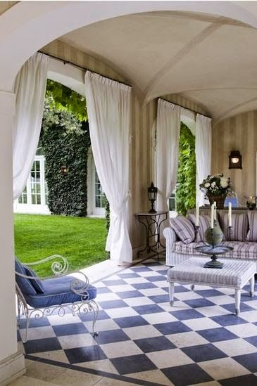 Gorgeous Outdoor Living Room ~ Tiled floor | Aesthetically Thinking ᘡղbᘠ