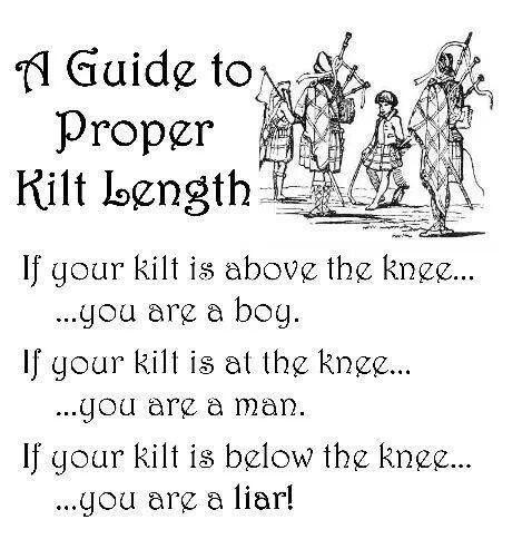 Kilt length