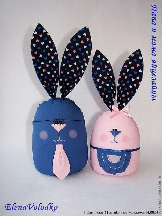 Шьем пасхальные яйца-веселые зайцы. Идеи и мастер-класс.. Обсуждение на LiveInternet - Российский Сервис Онлайн-Дневников