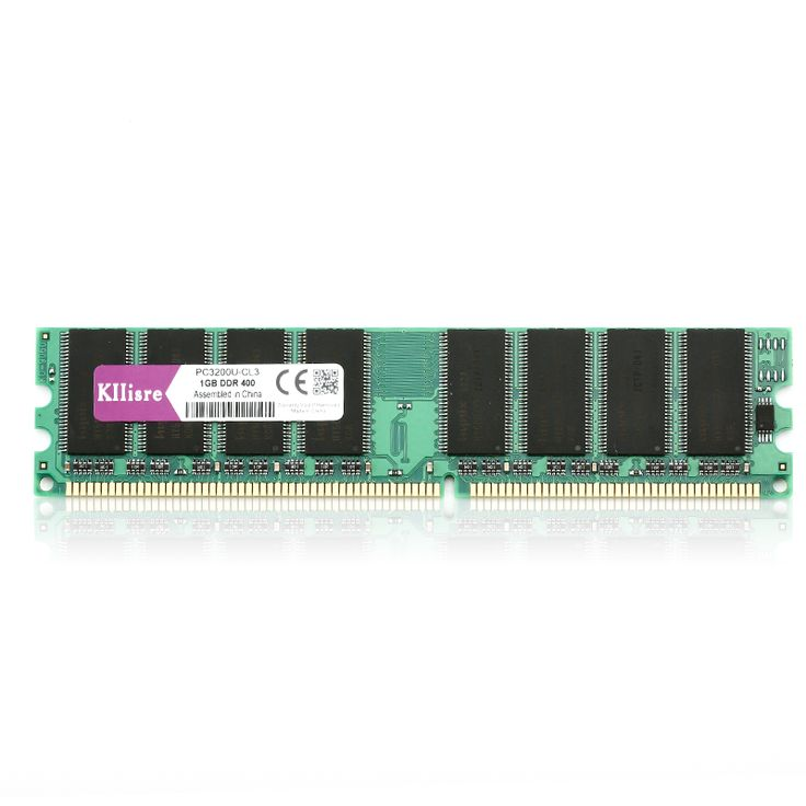 Kllisre DDR 1GB 400 PC3200 Memory Non-ECC Computer 184Pin Dimm DDR1 400 Ram