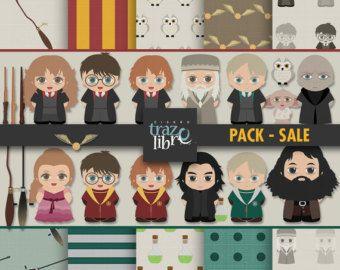 HARRY POTTER digitale papier | Digitale Download | digitale papier | digitale illustraties | Harry Potter clipart | Scrapbooking | Harry Potter-png