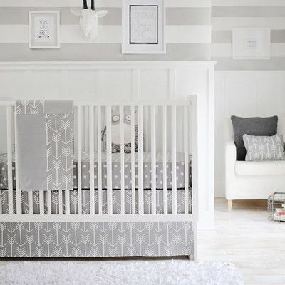 New Arrivals Wanderlust 2 Piece Arrow Baby Bedding Set