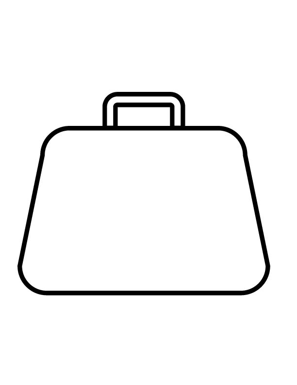 purse coloring page | purse 0114 printable coloring in ...