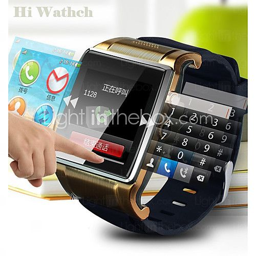 New Luxury Bluetooth Smart Watch WristWatch 1.54'' Hi Watch 2 Smartwatch for iPhone Android Smartphones 2016 - $38.99