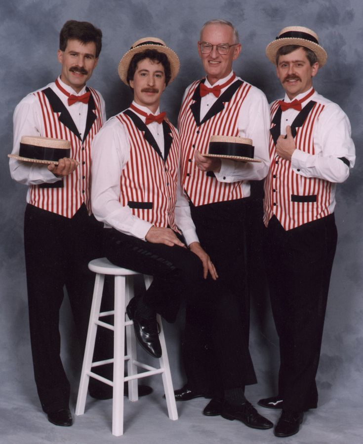 """In the future, barbershop quartets will undergo a revival of sorts as an entertainment form in the American Republic. Because nothing is more American than a barbershop quartet, and this would also be really clever for Cress and Thorne's wedding because they're a """"barber""""shop quartet...(I know. Just go with it.)"""