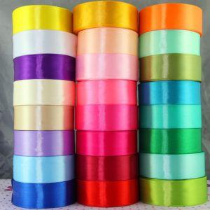 25 Yards Satin Silk Ribbon  Roll DIY Craft sewing Supplies Crafts Ribbon Wedding Supplies Accessories Gift Packing Width 1-1/2″