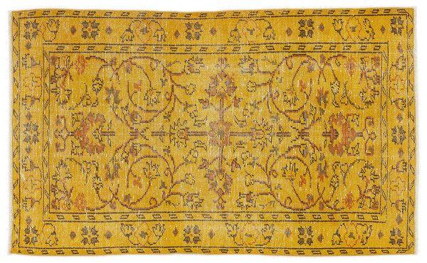 Vintage Teppich gelb