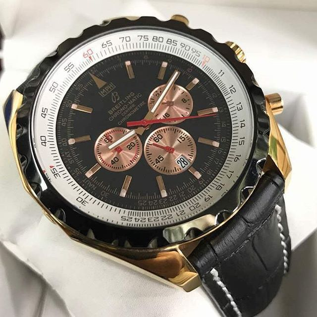 REPOST!!!  IN DEMAND! LOW STOCK!  First edition copy of mens watch.  Features: - Fully Automatic - Pure leather strap - Original Model - All Chronograph Working  Delivery between 7 - 14 days.  #Designer #Design #watch #copy #replica #wrist #wristgame #UK #Time #peice #timepeice #gold #chronograph #automatic #fashion #cheap #buy #sell #quality #london #manchester #leeds #birmingham #glasgow  Photo Credit: Instagram ID @designer.itemsuk