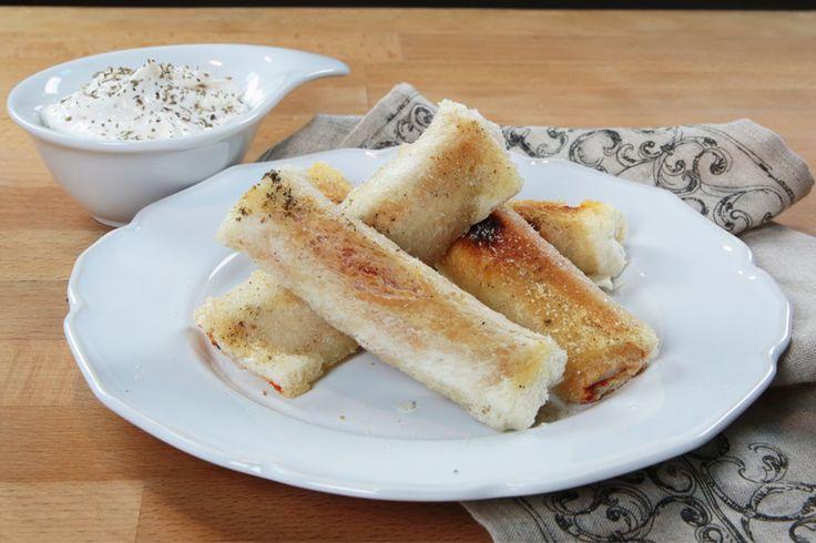 Kaşarlı Salamlı Ekmek Ruloları Tarifi