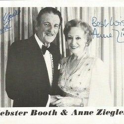 Webster Booth and Anne Zieger signed b/w photo. Good condition – Current sales – Barnebys.com
