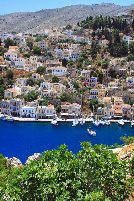 Beautiful scenery in Symi Island, Dodecanese, Greece. How about this Kurt? Beautiful right?
