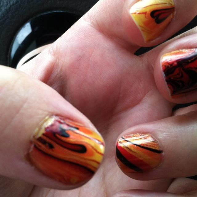 October Nail Art: October Nails, Finger Nail