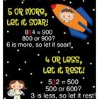Rounding Rule is a color 8x11 chart with a space theme.  The rhyme helps students remember which numbers round up and which numbers round down.  ...