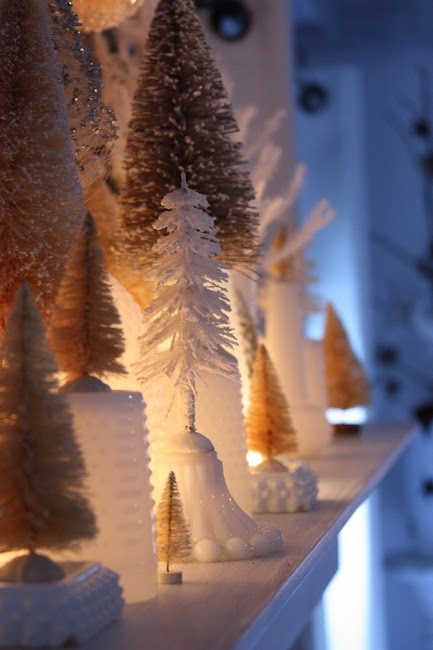 Milk glass and trees ~ erin's art and gardens: more christmas around the house...