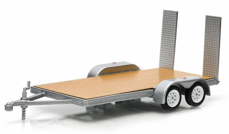 TOW Flatbed Trailer 1:64  truck jeep suv #GreenLight
